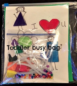 Toddler busy bag