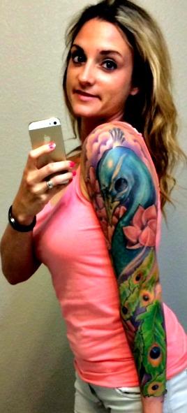 Peacock sleeve