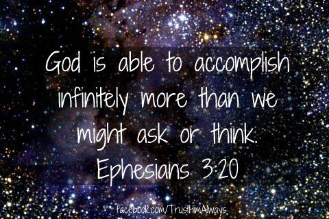 Ephesians 3 v 20