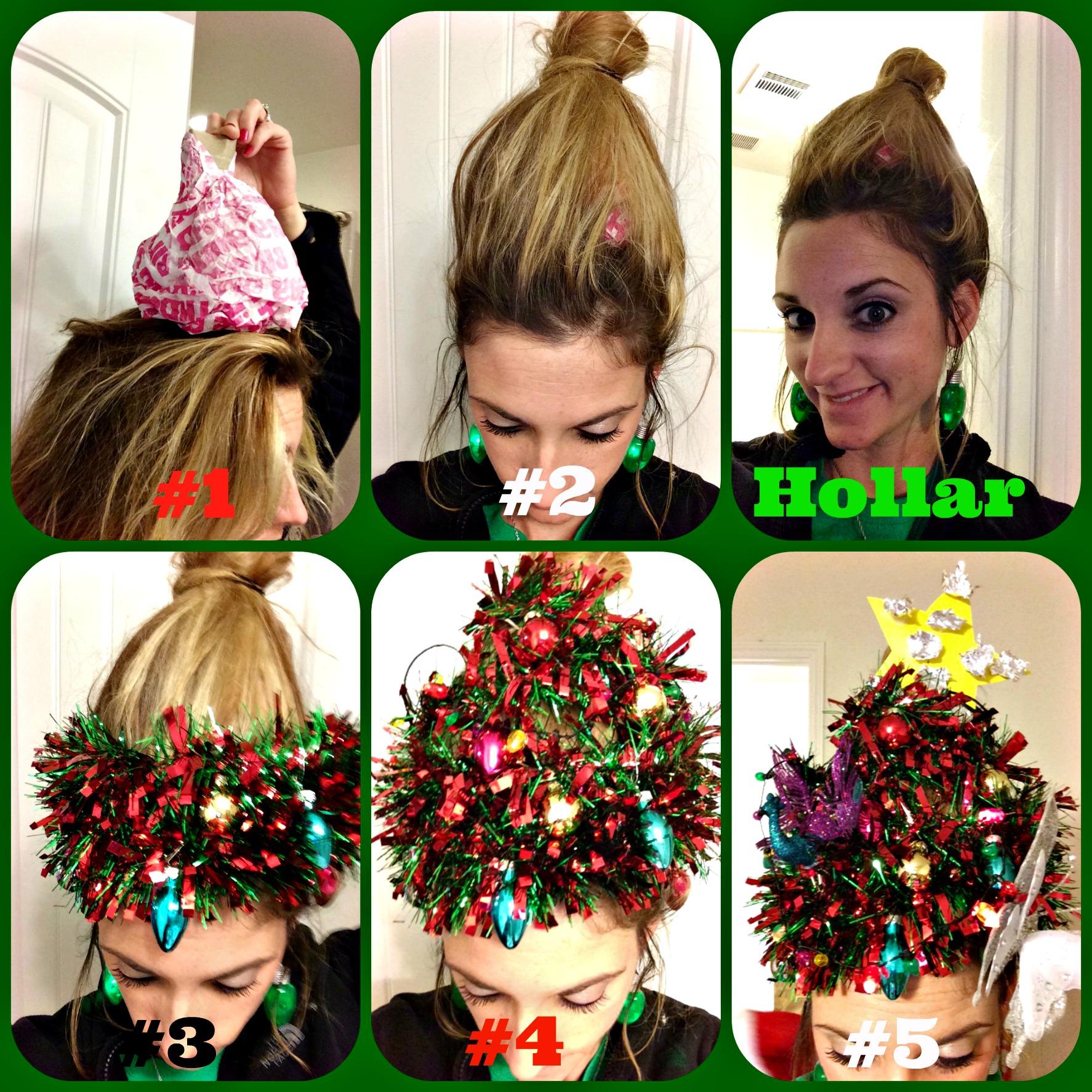 Christmas Hair.How To Do Your Hair Like A Christmas Tree Thecannonball Org