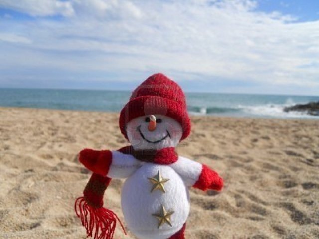 8879406-winter-vacation-snowman-at-the-beach