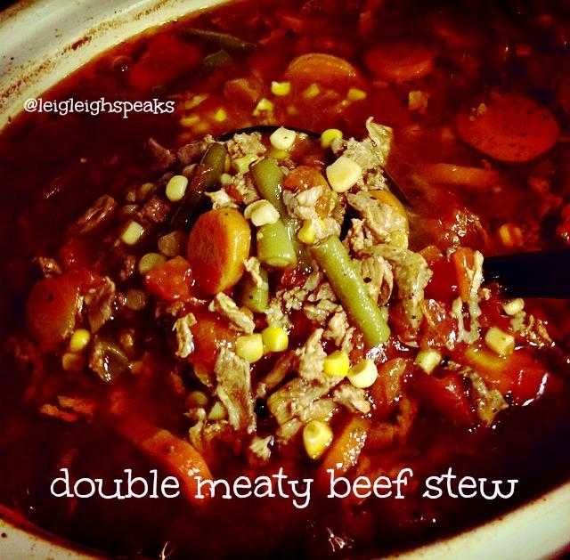 double meaty beef stew