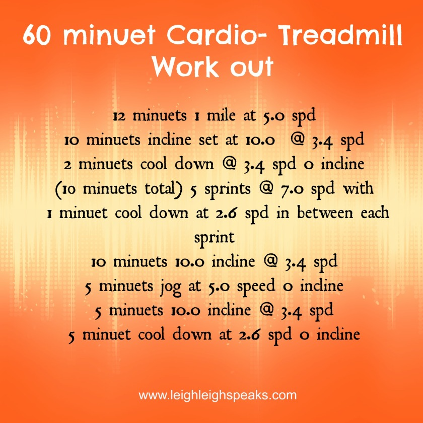 1rst cardio work out