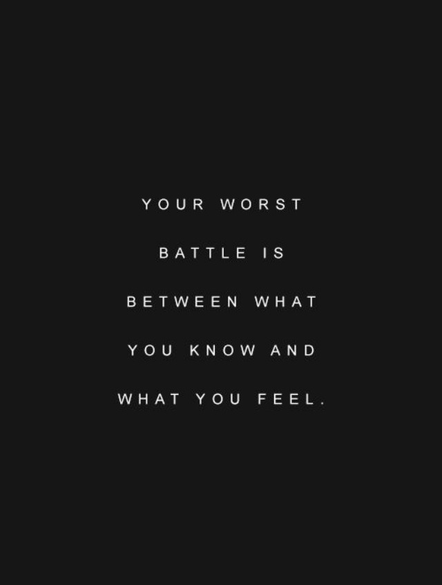 A dose of Monday Motivation- Your OWN WORSTBATTLE